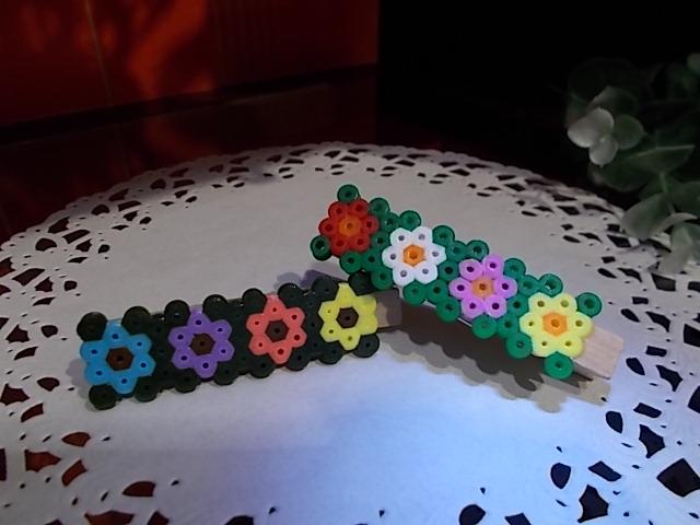 ハマビーズでお花のクリップづくり♪