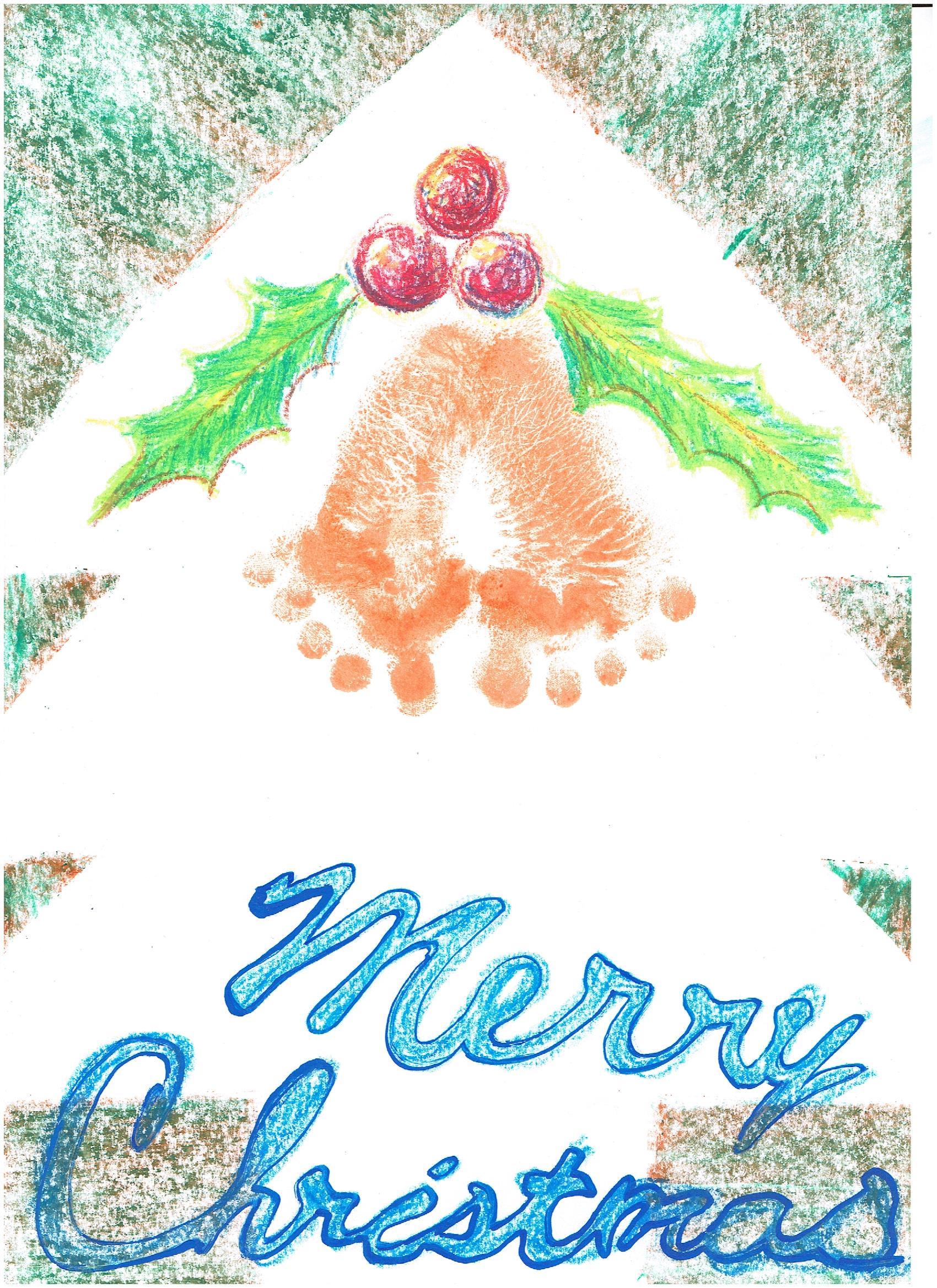 手形・足形アート~クリスマス飾りをつくろう~