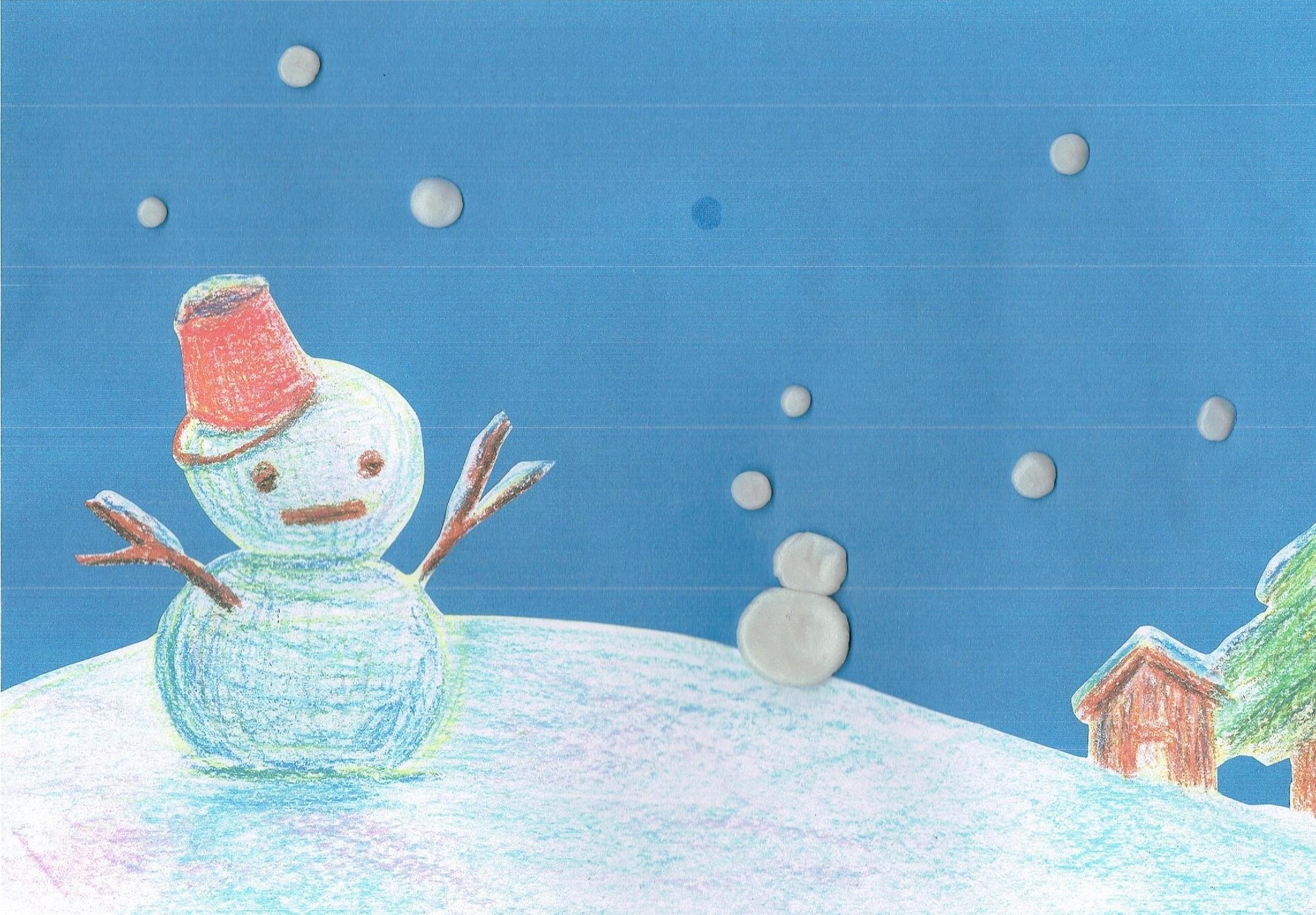 はじめてのネンドあそび~雪を降らせよう~