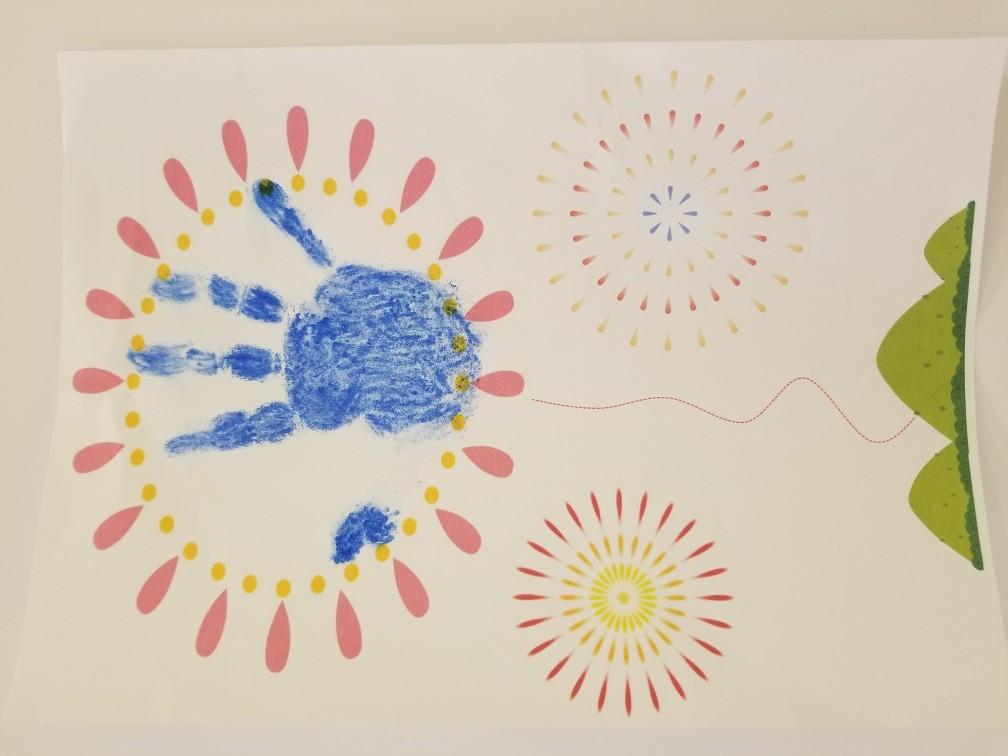 【tot Garden】手形スタンプで夏を描こう