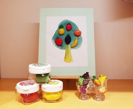 【水曜クラフトイベント】かんてんネンドでフルーツの木をつくろう