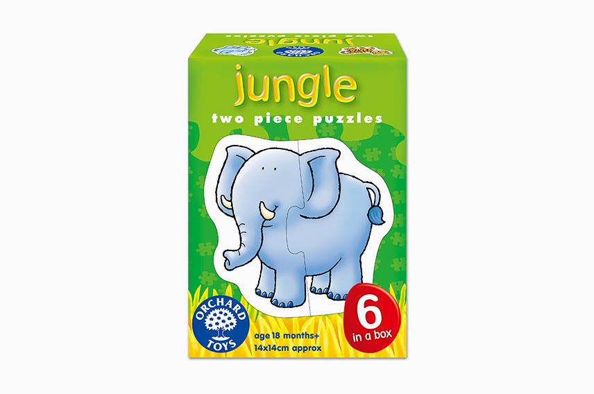 2ピースパズル ジャングルアニマル