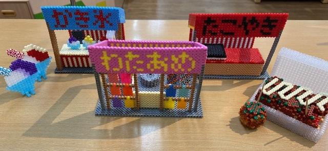 ハマビーズで、お祭りの屋台を作ろう!