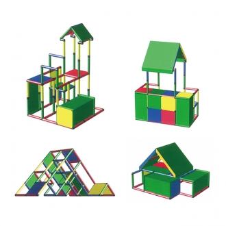 遊べる家具ボブルスと自由に組み立てられる丈夫なシステム遊具クアドロの展示のご案内