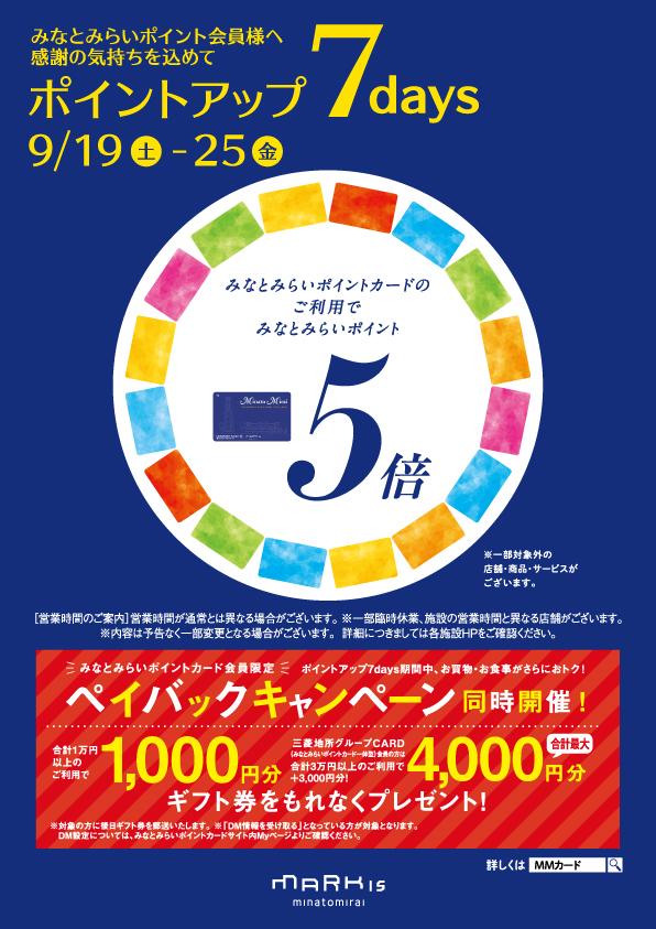 『みなとみらいポイントカード』ポイントアップキャンペーン!