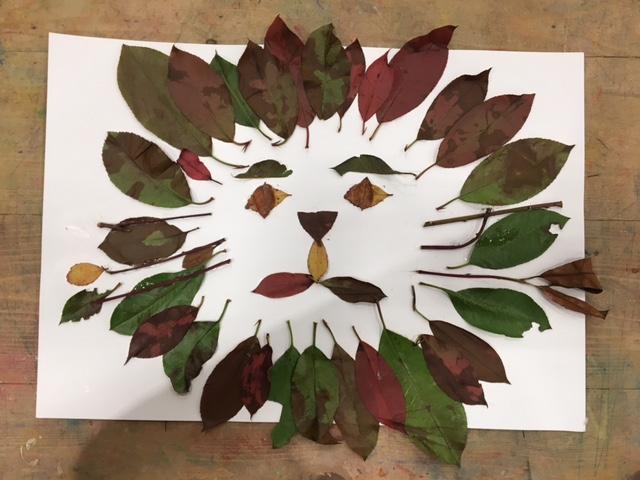 葉っぱDEアート
